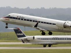 Comair planes at the Greater Cincinnati/Northern Kentucky International Airport in Hebron, Ky.