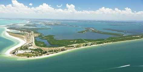 Fort De Soto Park on the Gulf Coast offers sugar-sand beaches and an historic fort.