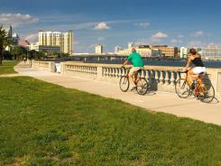 Tampa's Bayshore Boulevard is a popular spot for hikers, joggers and dog walkers.