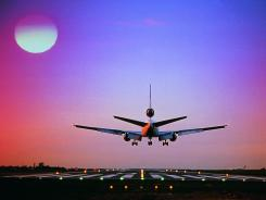 Flight lengths vary according to a number of factors, one of which is whether the plane encounters anticipated headwinds or not.