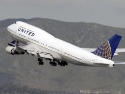 Dealing with backlog: United's reservation system went down.