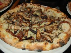 The Fontina, with Fontina cheese, caramelized onions and wood-roasted mushrooms.