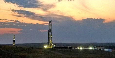 Oil platforms are becoming more common in the landscape of western North Dakota.