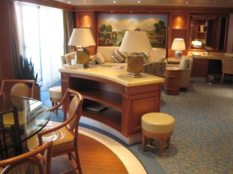 At the top of the accommodation tier Sapphire Princess 39 Grand Suite