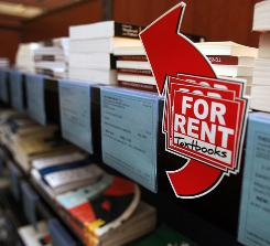 The campus bookstore at Drew University in Madison, N.J., offers students the opportunity to rent textbooks.