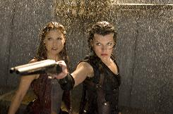 Ali Larter, left, and Milla Jovovich in a scene from 'Resident Evil: Afterlife,' which is one of several 3-D films currently in theaters.