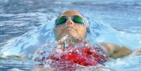Back in the pool: Olympian Dara Torres started training in Coral Springs, Fla., eight weeks ago after a long rehabilitation.