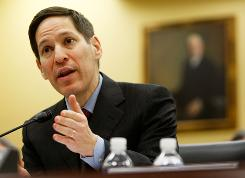 CDC director Thomas Frieden testifies about swine flu in November 2009.