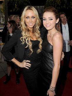 Tish Cyrus, left, and Miley Cyrus at 'The Last Song' premiere in Los Angeles March 25.