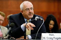 FEMA administrator Craig Fugate speaks during the Senate Subcommittee on Disaster Recovery hearing at Chalmette Elementary School on Aug. 26 in Chalmette, La.
