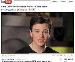 'Glee' star Chris Colfer speaks on behalf of the It Gets Better Project on YouTube.