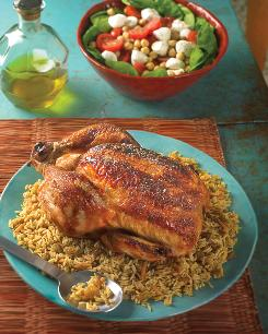 "Israeli chicken from ""The Mediterranean Diabetes Cookbook"" by Amy Riolo."