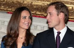 Prince William and Kate Middleton announced their engagement in London Nov. 16.