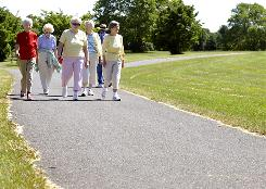 If you want to keep your mind agile, get your feet moving, as do these seniors from the Happy Hikers group in Nazareth, Pa., photographed during their weekly walk in July.