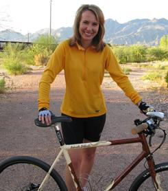 One of Rep. Gabrielle Giffords' favorite forms of exercise is riding her bike in Tucson.