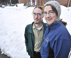 Matt Brench, 26, a student at Gordon-Conwell Theological Seminary, and his wife Becca Brench, 22, fast (drink only water all day) once every week. The couple's observance is an example of efforts taken by Americans seeking to incorporate spirituality and a return to an appreciation of sacredness into their daily lives.