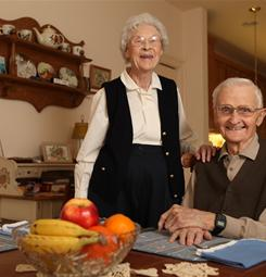 Gerry DeHoff, 92, and his wife, Laurene, 90, eat fruits and vegetables regularly to maintain proper health.