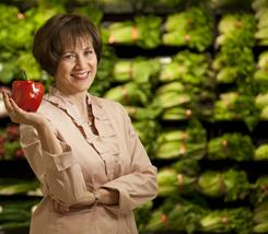 Registered dietician Cynthia Held who conducts 'grocery shopping tours.'