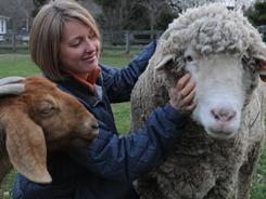 Petfinder.com co-founder Betsy Banks Saul has populated her farm in Chapel Hill, N.C., with rescue animals, including a sheep and goats.