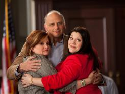 From left, Faith Prince, Kurt Fuller and Brooke Elliot appear in a segment of Lifetime's 'Drop Dead Diva,' honored for its handling of bipolar disorder.