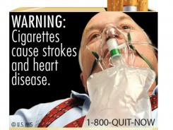 This image shows one of nine new warning labels cigarette makers will have to use by the fall of 2012.