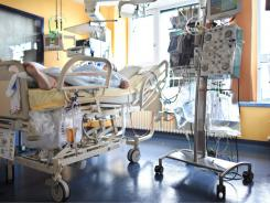 A patient who got the EHEC bacteria is in intensive care at the Hanover Medical School in Hanover, Germany.
