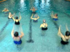If you don't enjoy swimming laps, water aerobics are a great alternative that let you beat the heat.