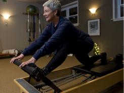 Nancy Garvey takes Pilates and Zumba classes and throws in a 'little weight training on the machines.'
