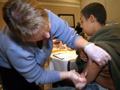 A high rate of compliance in the vaccination of older children has helped keep even young babies from getting chickenpox.