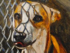 Mark Barone is painting 5,500 portraits of dogs that have died in shelters. He expects to have the pieces completed by the end of 2012.