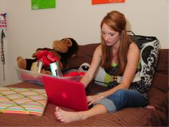 Sara Wingate prepares and packs for her freshman year of college at  the University of Mississippi.