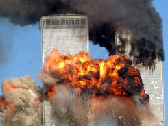 New York: The Twin Towers in flames, Sept. 11, 2001.