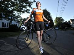 Biking from New York to Boston: Susan Retik, whose husband died in the Sept. 11 attacks, hopes this year's ride will raise $200,000.
