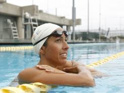 Janet Evans, who turns 40 this month,  is training for the Olympic trials.