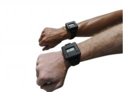 Armed with the right tool: The device counts bites by tracking your wrist movement.