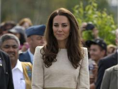 Kate, the Duchess of Cambridge, is credited with reinvigorating the interest in sheer, shiny hosiery which is making a comeback.