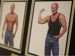 "Photos of Dr. Jeffry Life, a proponent of hormone therapy, hang in his office in 2008. His 'age managment' practice is one of the outlets catering to boomers' ""forever young"" mindset."