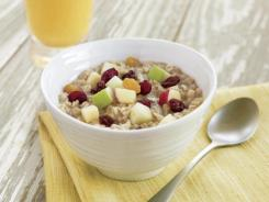 Oatmeal is rich in fiber and helps lower cholesterol.
