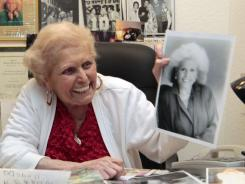 Jean Nidetch, founder of Weight Watchers, is shown at her home in Parkland, Fla. Fifty years after Nidetch went on the diet that changed her life, she says she still lives by most of the ideals she espoused when she started the international weight loss group 50 years ago.