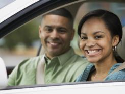 Many states require young drivers to get extensive experience, including driving with an adult, before getting a full license.