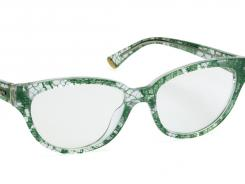 Be flirty and make a statement with Dolce & Gabbana Green/Crystal Lace by Luxottica.