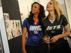 Shown here are: Gwen Reese (Married to New York Giants General Manager Jerry Reese) and Suzanne Johnson (Married to New York Jets Owner Woody Johnson).