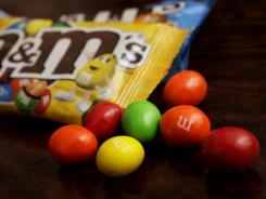 M&amp;M's candies were mistaken for Coricidin 43 percent of the time. Coricidin is another decongestant medication.
