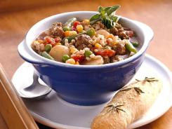 Beef-barley stew from the the Betty Crocker 'Living with Cancer Cookbook.'