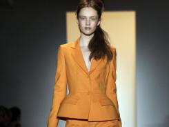 Shown here: The fall 2011 collection of designer Peter Som as it is modeled during Fashion Week in New York.