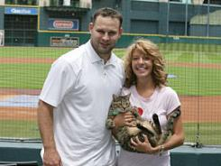 Houston Astros pitching coach Dave Borkowski and wife Jill  have four rescued pets, including their cat Camden.