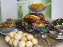 The turkey should never go directly from the oven to the table. Like most meat, it needs to rest at least 20 minutes before serving for the juices to redistribute.
