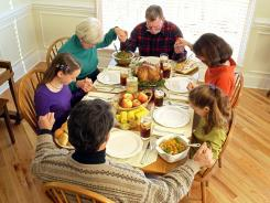People who are religious often give thanks to a higher power for their blessings, but  people who are not religious are just grateful for the good things in their life like food and family, experts say.