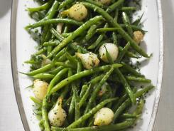 Among the recipes is French bean and pearl onion ragout.