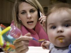 Working moms are multitasking about two-fifths of their waking hours, experts say.